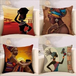 African Indian Style Throw Pillow Covers Brand New